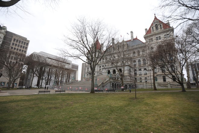 New York State Capitol building  in Albany on January 17, 2021.