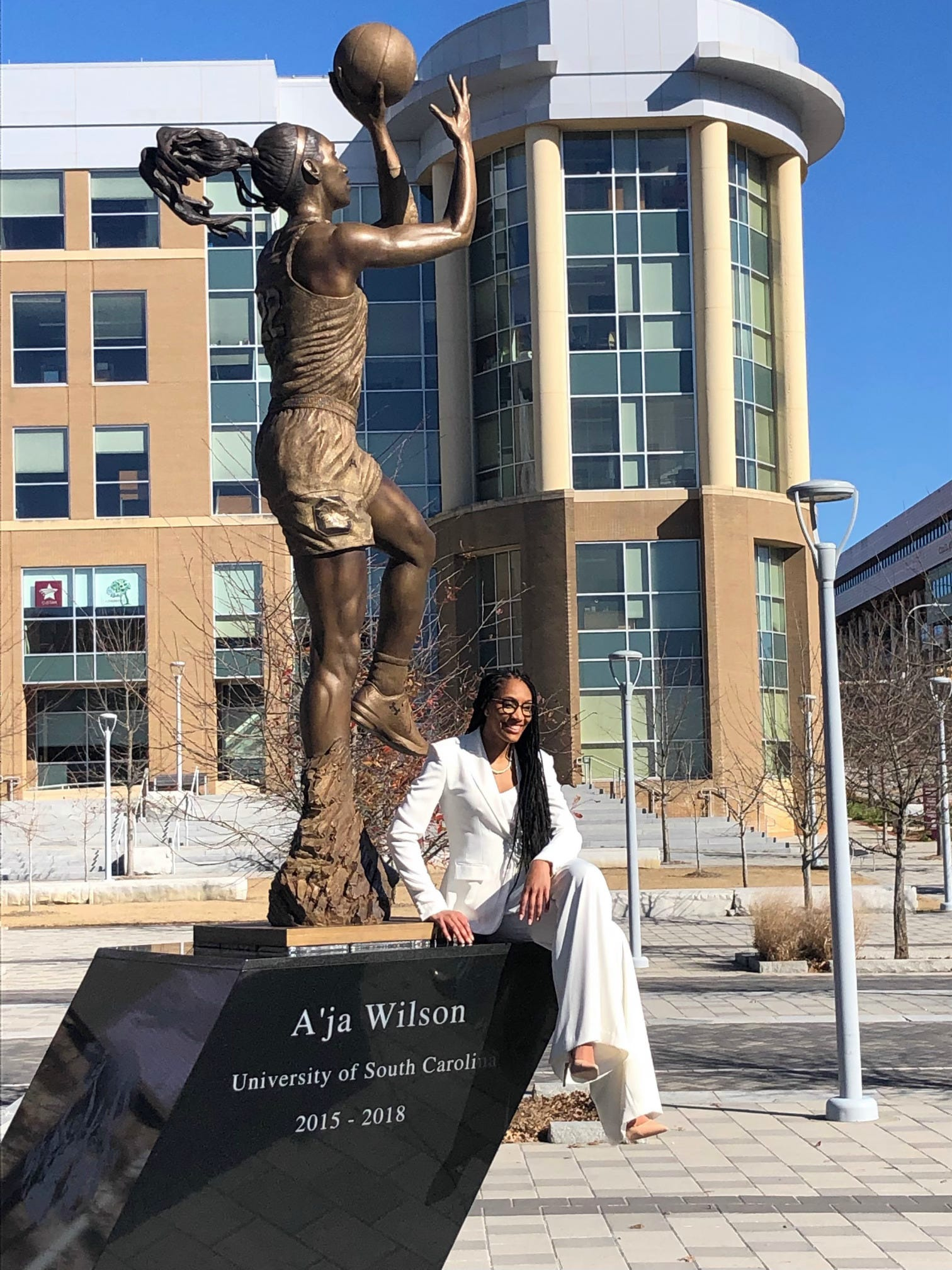 Reigning WNBA MVP A'ja Wilson gets statue for work on and off court