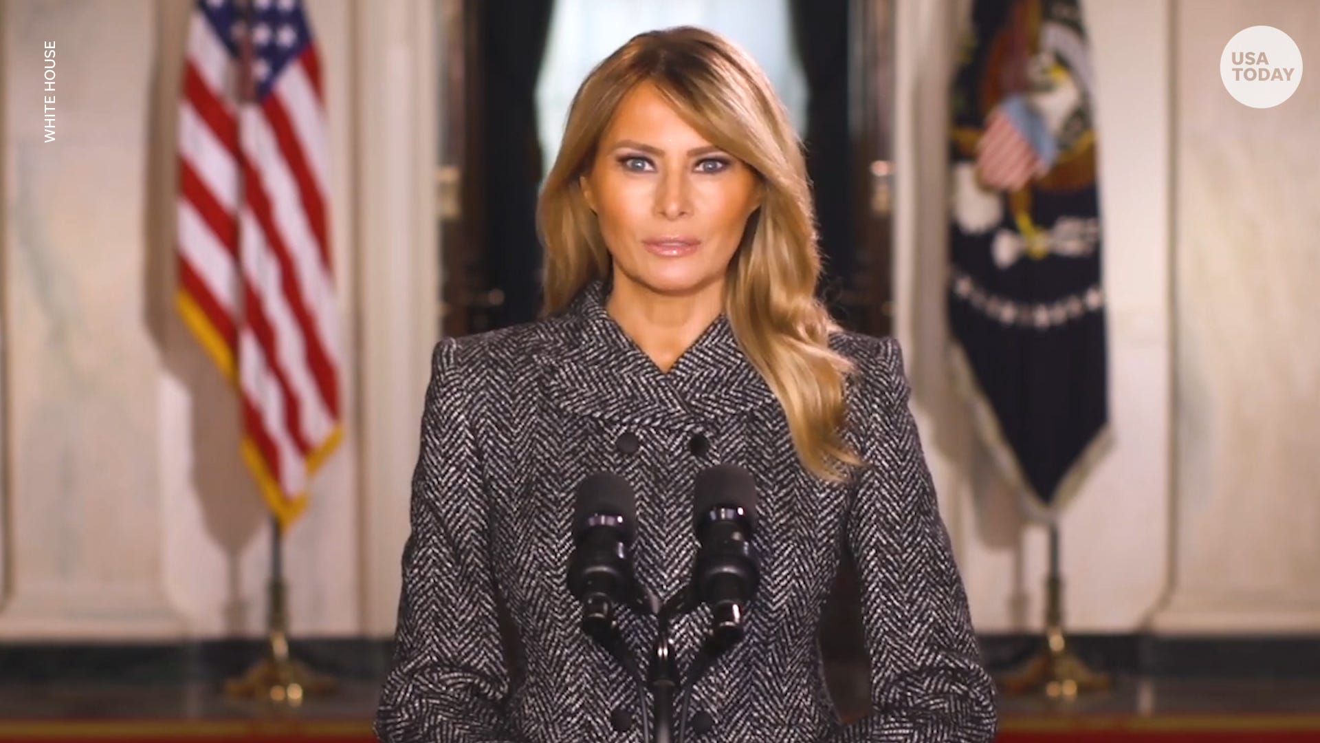 First lady Melania Trump addresses Americans in farewell message