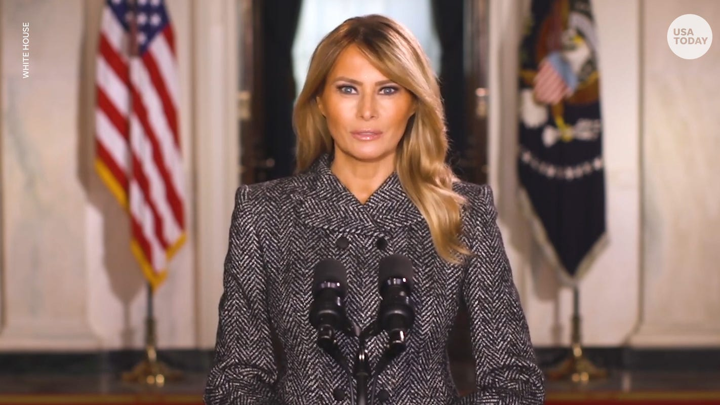 Melania Trump asks Americans to 'choose love' in farewell message – USA TODAY