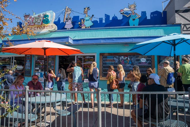 Before the pandemic, the South Congress Avenue Amy's Ice Creams would draw a crowd on a nice day. Amy's Ice Creams founder Amy Simmons and the Kindness Campaign founder Andra Liemandt are hoping the mural also will bring people to the spot safely during the pandemic and beyond.