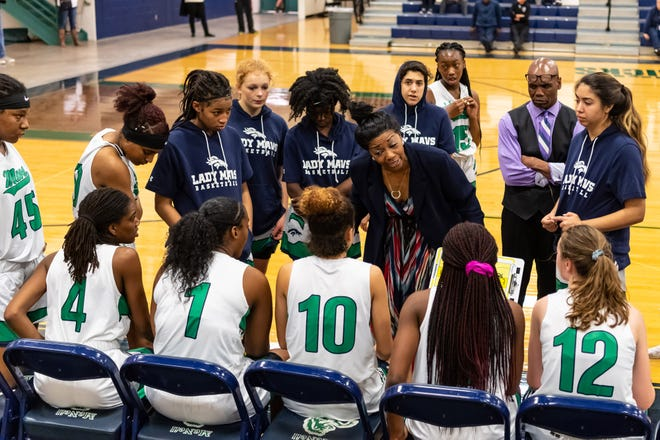 McNeil coach Charlotte Jones led the Mavs to a crucial District 25-6A win over Stony Point Friday.