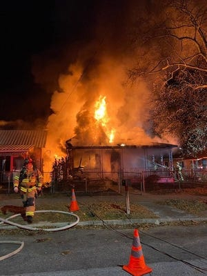 Augusta firefighters responded to a structure fire in the 2000 block of Ellis Street around 11:30 p.m. Monday Jan. 18.