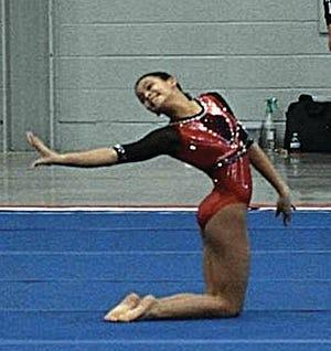 Abigayle Hargis of the Bartlesville Gymnastics Club.
