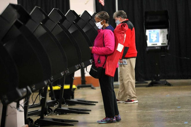 Ohio elections officials have canceled 97,795 voter registrations, its first mass cancellation of inactive voters since the 2020 election.