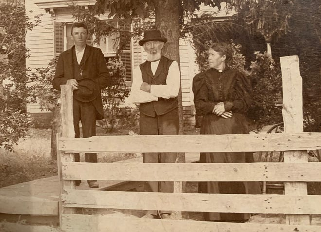 Patrick Michael Mahoney, center, acquired a farm near Alexis in 1871 that was recognized as a Sesquicentennial Farm by the Illinois Department of Agriculture. His great-grandson, Maurice Flaherty, currently owns the farm.