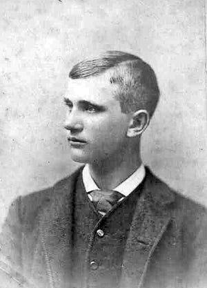Ben D. Cable as a young man, from an 1880s cabinet card.