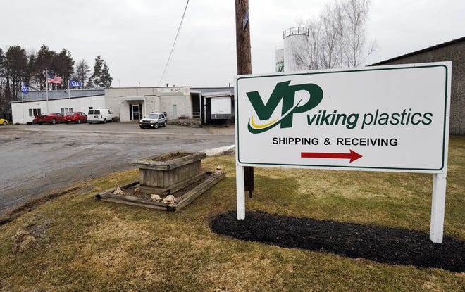 This is a March 2014 file photo of the Viking Plastics plant in Corry.