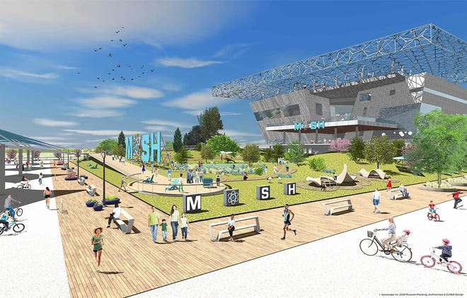 This is a rendering of the Museum of Science & History's planned new facility on Jacksonville's Northbank.
