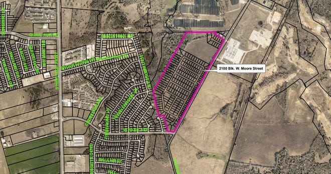 The Sherman Planning and Zoning Commission has approved nearly 200 new residential lots along Moore Street.