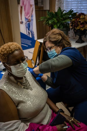 AdventHealth Hendersonville partnered with a historic African American church, Greater New Zion Baptist Church in Fletcher, for a COVID-19 vaccine clinic on Martin Luther King Jr. Day.
