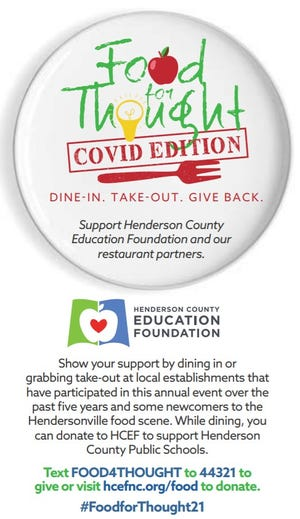 The Henderson County Education Foundation is holding its annual Food for Thought fundraiser to raise money to help support Henderson County Public Schools.