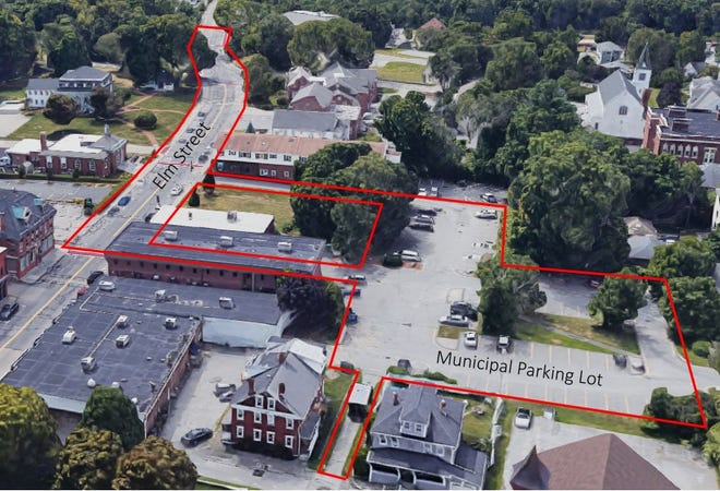 Proposed improvements to Millbury center in the next phase of the Armory Village Revitalization Project slated to begin in 2022.