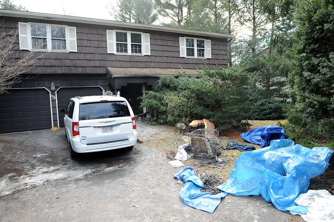 One person and as many as 20 animals died at 623 Winter St., in Holliston, following a fire overnight, Jan. 19, 2021.