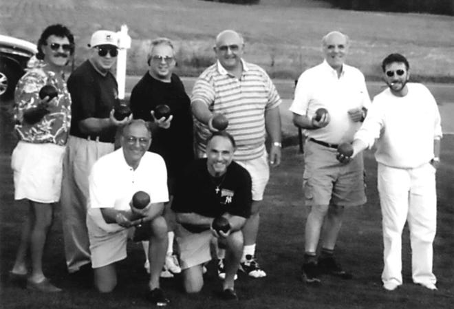 Bocce, the Italian version of lawn bowling, is popular in Rome in Oneida County and for many years was played by many in Utica on courts next to the Alpine Restaurant at Albany and Elizabeth streets. These gentlemen participated on courts behind the former Sons of Italy on Bleecker Street. Among them are Vinny Parrella, Art Nole, Ron Gaetano and Vic, Bobby and Jimmy Piperata.