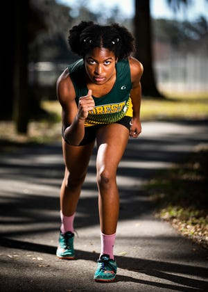 Forest's Nichole Harris is this year's Ocala Star-Banner Girls Cross Country Runner of the Year. She broke her high school's record in the 5K with a time of 20:00.70.