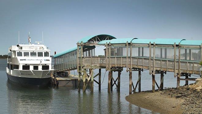 A Hingham MBTA commuter boat on Sept. 15, 2020. Greg Derr/The Patriot Ledger