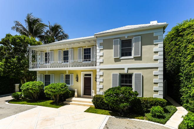 Dating to 1928, a remodeled Monterey-style house at 130 Cocoanut Row in Palm Beach has sold for a recorded $9.385 million.