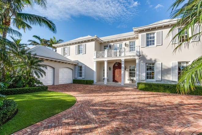 John W. Copeland and wife Gianna F. Biondi have sold this West Indies-style house built in 2009 by Wittmann Building Corp. at 231 Nightingale Trail on the North End of Palm Beach.