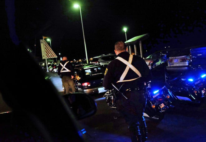 Hampton police are seen making a traffic stop in this 2017 file photo. A petition was recently started calling on more state troopers at the beach to assist Hampton officers in the aftermath of fights breaking out from a large gathering on May 26.