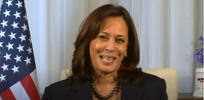 Vice President-elect Kamala Harris speaks to her Alpha Kappa Alpha sorority sisters via Zoom on Friday.