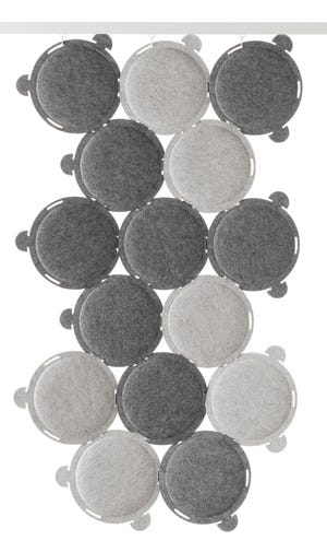 Sound absorbing panels in gray. Ikea