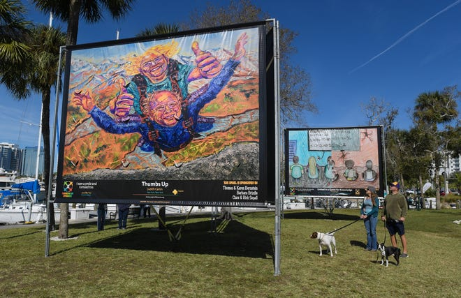 Embracing Our Differences, seen here in 2019, is an annual free exhibit at Bayfront Park in downtown Sarasota.