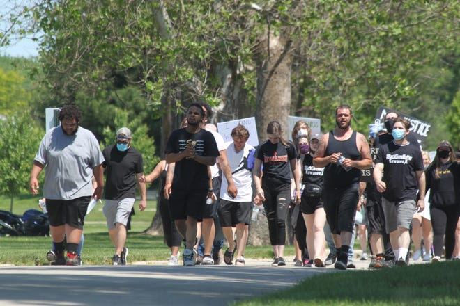 Black Lives Matter protestors gathered peacefully in Kewanee last summer in a March that ended in Northeast Park.