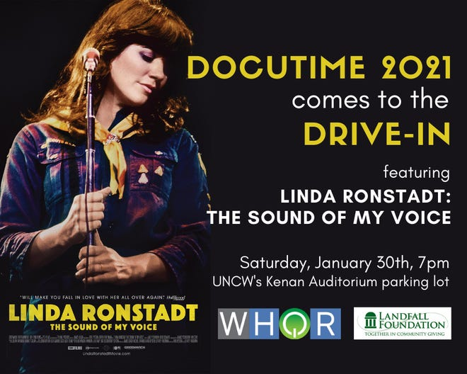 Docutime will be drive-in featuring Linda Ronstadt: The Sound of My Voice at 7 p.m. Saturday, Jan. 30 in the parking lot of UNCW's Kenan Auditorium.