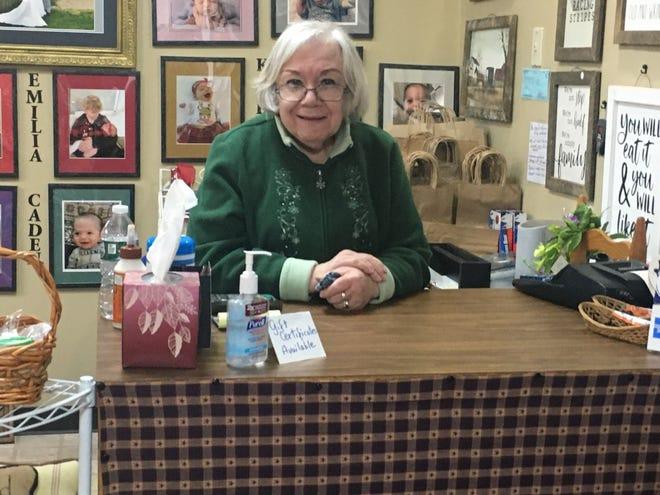 Nancy Kiddy's store, The Knotting Shed and Udder Delights, has been in business for 40 years.