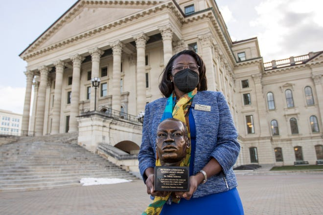 Topeka Unified School District 501 superintendent Tiffany Anderson was recognized by the MidAmerica Nazarene University for her efforts to model and further the life of Martin Luther King Jr.