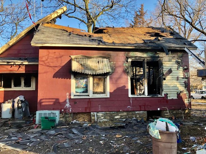 A fire early Tuesday morning destroyed this house at 1119 S.W. Clay.