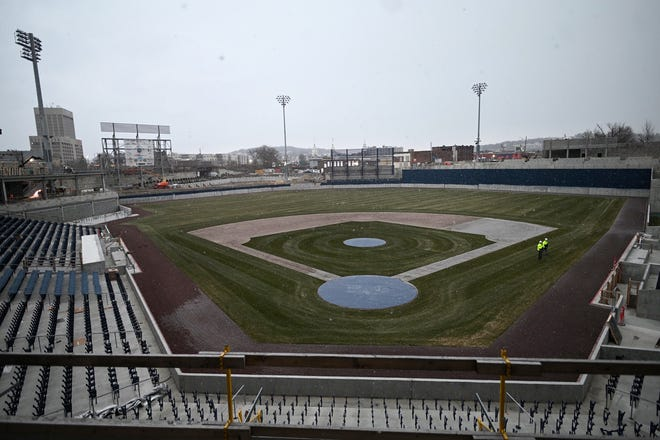 Fans will be in stands after Polar Park is completed in April for the 2021 Worcester Red Sox season.