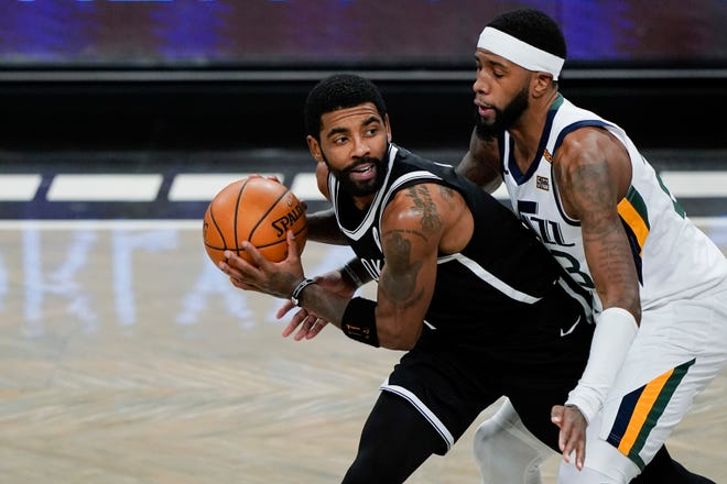 "Kyrie Irving rejoined the Brooklyn Nets on Tuesday, saying he took a leave of absence because he ""just needed a pause."" Irving practiced with the team and could play Wednesday in Cleveland."
