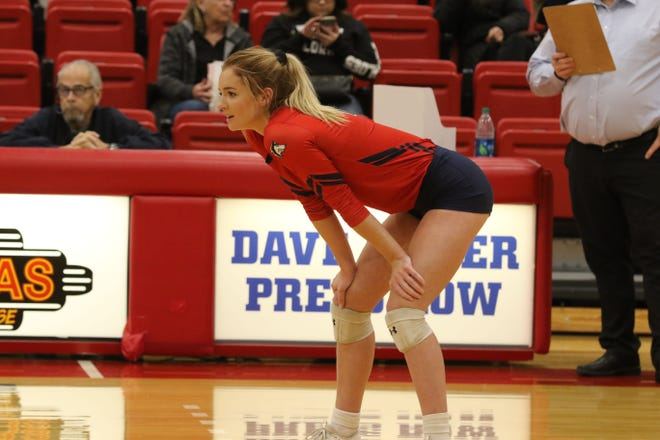 Colorado State University Pueblo's Maddy Wisniewski has been selected as a player to watch by the Rocky Mountain Athletic Conference for the 2021 women's volleyball season. [Bill Sabo/CSU Pueblo athletics]
