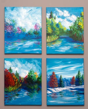 """Four Seasons Pond, 2020"" by Eden Miller."
