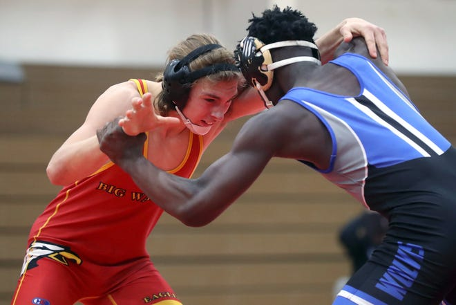 "Junior Micah Tillar is in his first season wrestling for Big Walnut. He started out 9-9 at 160 pounds, which coach Aaron Renner said ""is pretty impressive for a first-year wrestler in that weight class."""