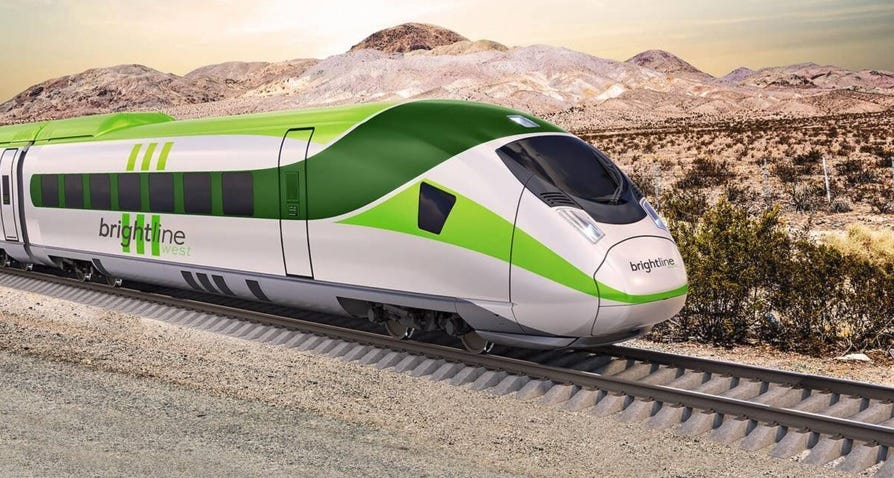 High-speed rail line from Las Vegas to LA on track to break ground in 2021