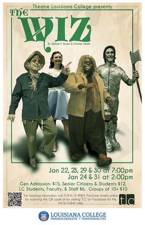 """Theatre Louisiana College (tlc) and the Louisiana College Department of Music will present the popular Broadway musical """"The Wiz"""" beginning Fridayafter a nearly year-long delay due to COVID-19."""