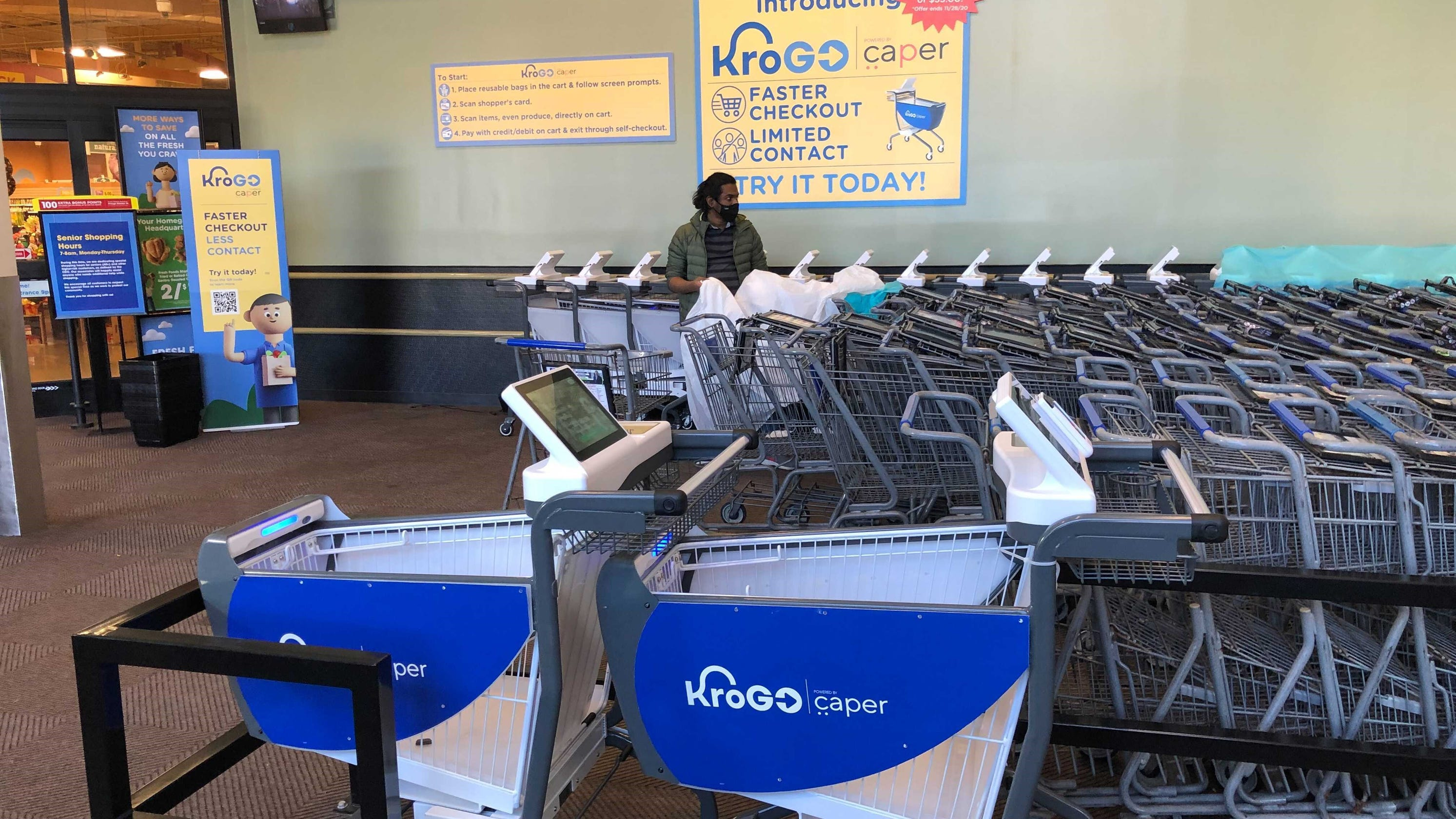Kroger testing new 'smart cart' that eliminates stopping to pay at checkout