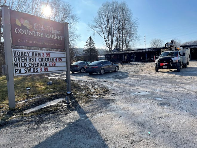 Old Thyme Country Market on County Road 16, outside West Lafayette, was destroyed by a fire Monday evening. The Ohio State Fire Marshal's Office was on scene Tuesday and is investigating to determine cause. Owners via Facebook said the store was a total loss and would be closed indefinitely.