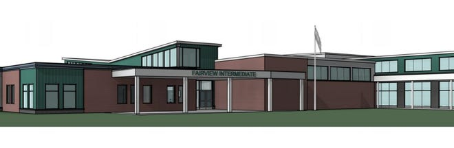 Concept drawing of Fairview Intermediate School planned by the West Shore School District