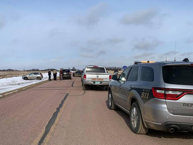 Authorities were able to successfully PIT the suspect's vehicle near 277th Street and 483rd Avenue in Turner County.