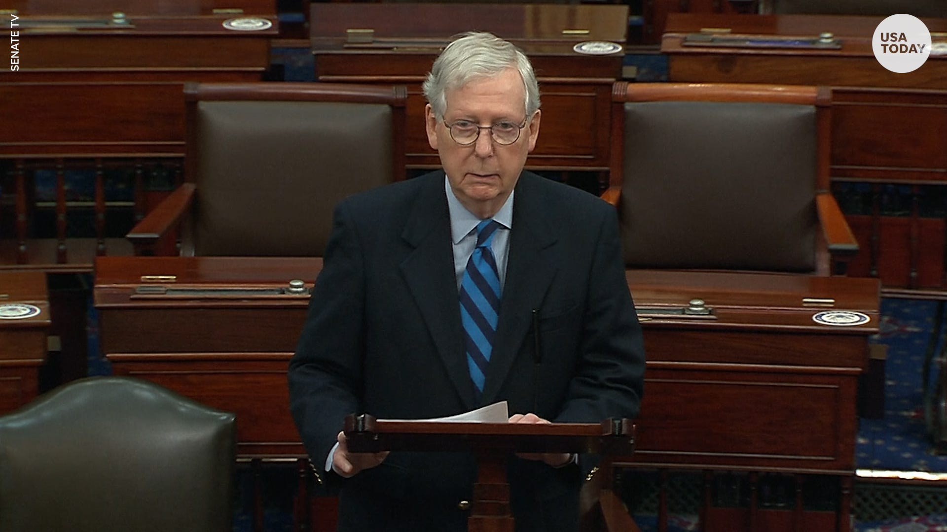 Mitch McConnell says attack at the Capitol was 'provoked by the president'