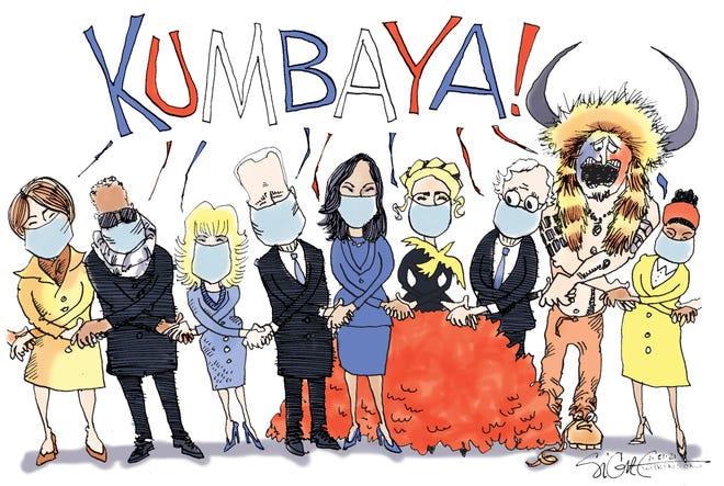 Signe cartoonKumbaya Biden
