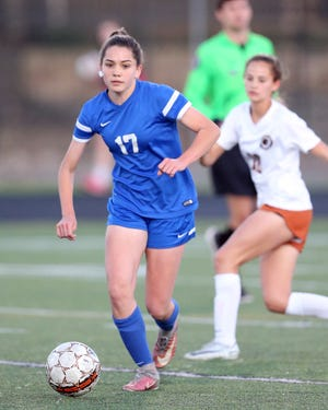 Pflugerville's Kaitlynn Melton scored seven goals in three Panthers victories as they claimed first place at the Brazos Valley Cup girls' soccer tournament last weekend.