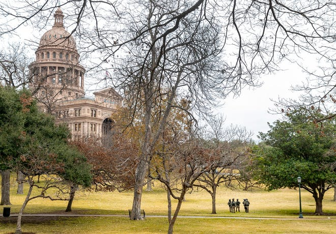 DPS and Texas National Guard protect the Texas State Capitol during Inauguration day Wednesday, January 20, 2021.