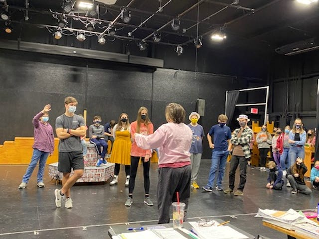 The cast of 'The Music Man' rehearses ahead of the Jan. 29-31 performances.