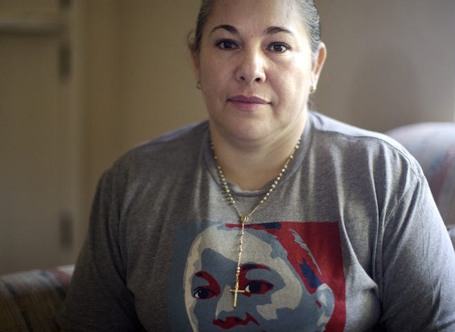 Edith Espinal, seen here in this 2019 file photo, is one of four women suing Immigration and Customs Enforcement for exorbitant fines while in sanctuary. Espinal has been living inside the Columbus Mennonite Church since October 2017 to avoid deportation after ICE stepped up enforcement actions during the Trump administration.