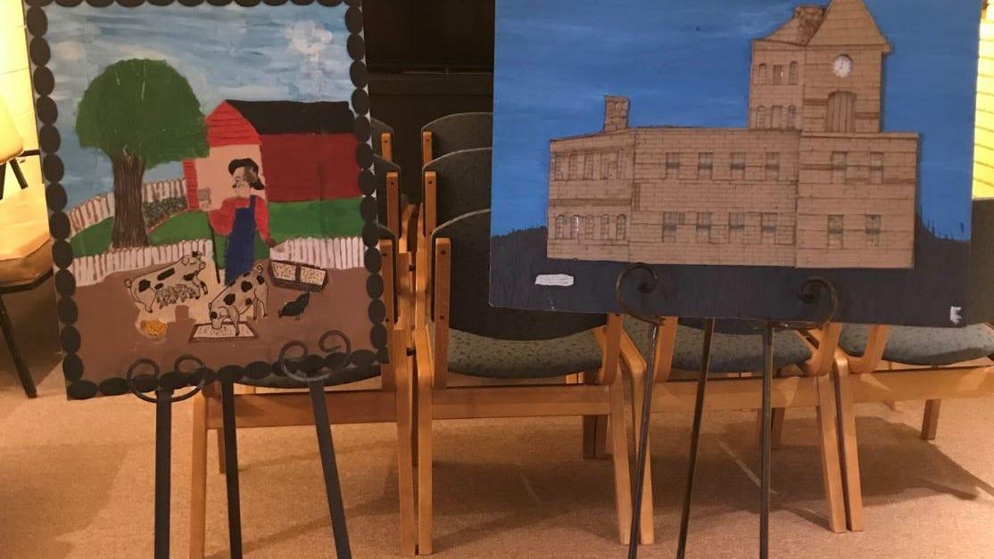 Folk art created by Inez Littlejohn and Leroy Marshall